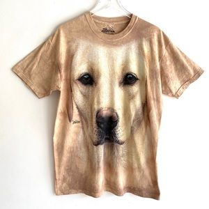 The Mountain Yellow Lab Dog Tee Vintage Style L